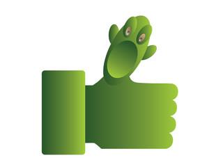 green  like thumb up