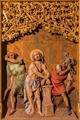 Bratislava - Flagellation of Jesus scene - cathedral