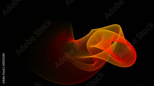Abstract flame waves windows screensaver like animation