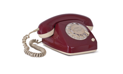 Telefon auf weiß freigestellt.