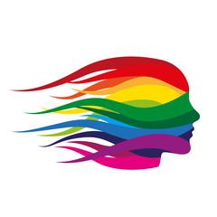 Farbverlauf Farbspektrum Kopf Gesicht Silhouette