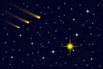 Comets and stars