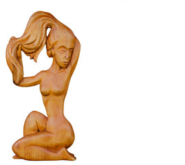 Сувенир, изделие, поделка из дерева. Обнаженная женщина.