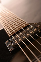 Electric guitar , close up