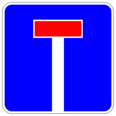 Sachgasse Schild keine Durchfahrt  #140120-svg06