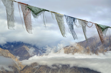 Buddhiså prayer flags in Himalayas