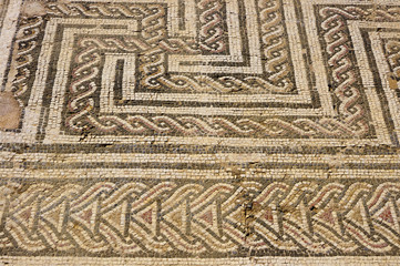 Mosaic floor in the Roman ruin Italica  Seville, Andalusia