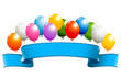 Banner with balloons