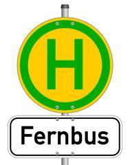 Haltestelle Fernbus Schild  #140120-svg09