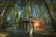 Aged Forest Cabin - 60517838