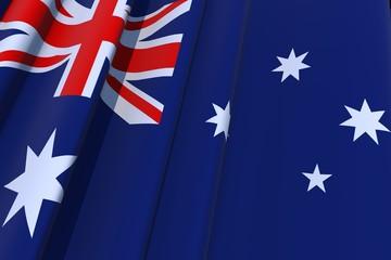 Australian Flag in 3D