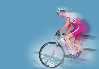 Speeding Biker Illustration