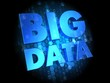Big Data on Dark Digital Background.