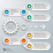 Infographics Vector Background Process Chart