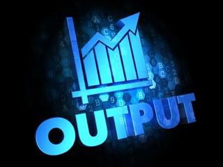 Output on Dark Digital Background.