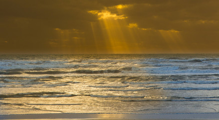 Heavenly Golden Rays