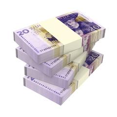 Swedish money isolated on white background
