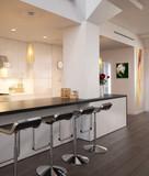 Kitchen implemented inside a city loft (focus) poster