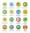 SEO & Internet Marketing Flat Icons Set 1 - Bubble Series