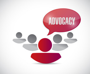 advocacy message and team illustration