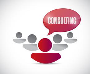 consulting team illustration design