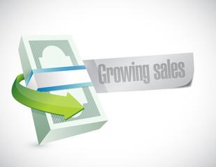 growing sales sign illustration design