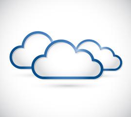 set of clouds illustration design