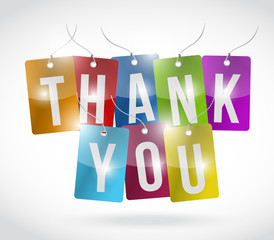 thank you color tags illustration design