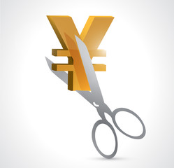 cut yen prices illustration design