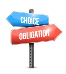 choice and obligation illustration design