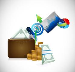 wallet business concept illustration design