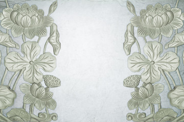 Transparent Background with lotus