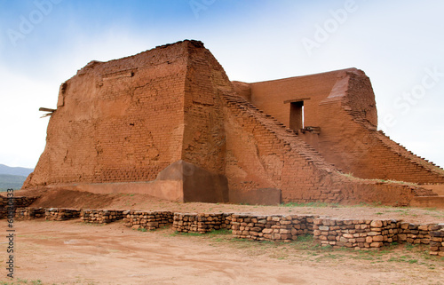 decaying ancient adobe mission - 60520433