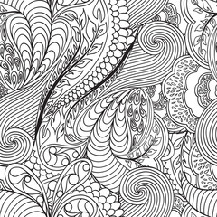 Monochrome seamless pattern. Vector illustration