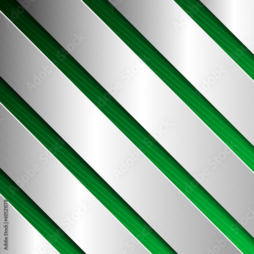 Abstract textured background with metal plates in green