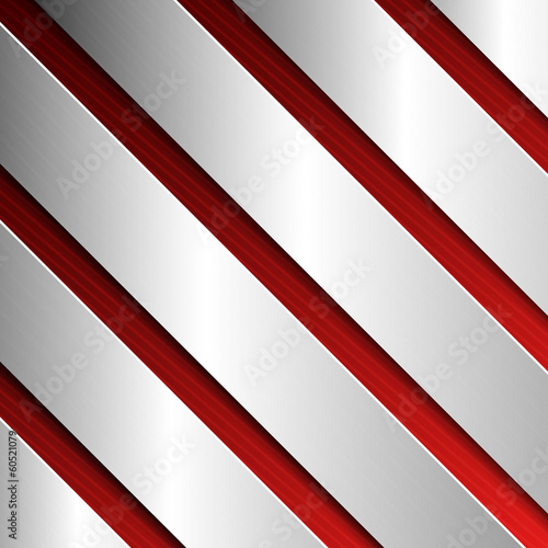 Abstract textured background with metal plates in red