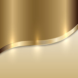 Fototapety Vector golden texture background with curve