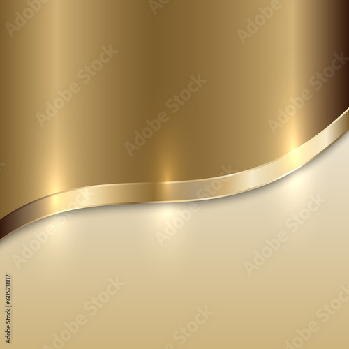 Fototapeta Vector golden texture background with curve