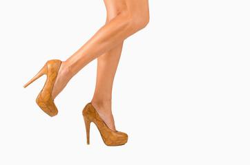 Female legs in motion