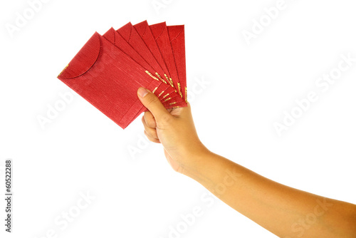 Hand Holding Red Envelope