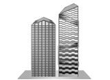 Building model sample new design gray scale