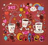Coffee cartoon illustration