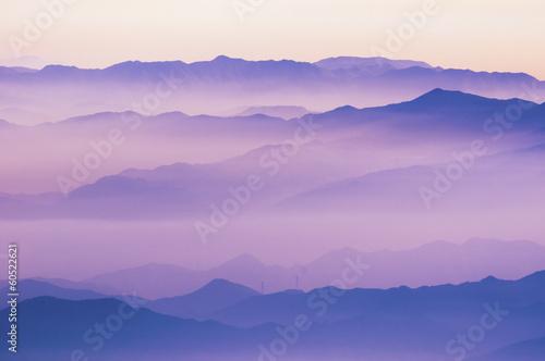 Foto op Plexiglas Japan mountain ridges