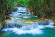 Deep forest Waterfall in Kanchanaburi, Thailand - 60523016