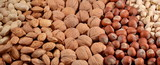 Assorted nuts background