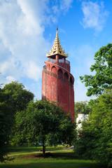 Watch Tower in Mandalay Palace, Myanmar