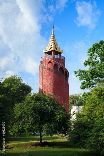 Watch Tower in Mandalay Palace, Myanmar