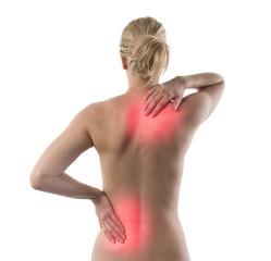 Frauenkörper Rückenschmerzpunkte