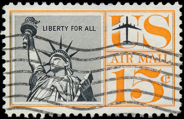 UNITED STATES - CIRCA 1950 : A stamp printed in United States. S