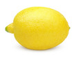 Fresh lemon isolated on white with clipping path